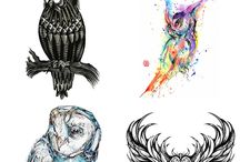 Conception De Tatouage De Hibou