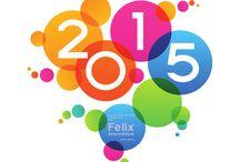 Voeux / Visuel des voeux Félix informatique pour la nouvelle année
