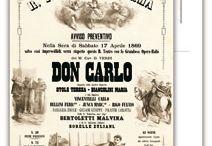Opera posters. Verdi. Don Carlos