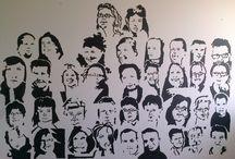 Mural wewnętrzny - Stowarzyszenie MY DLA INNYCH / Malowałem wewnętrzny mural osób ze Stowarzyszenia MY DLA INNYCH przy Antoniuku Fabrycznym 34.