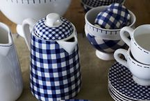Blue & White ~ A Classic / Blue and White serving pieces, containers, linens, lamps...always a perfect choice!