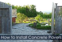 How to Install Pavers - Steps / Installation guide with illustrations about installing concrete pavers for walkway, sidewalk, driveway... Paver base, Laying Pavers, Applying Polymeric sand and more.