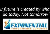 Exponential Performance Coaching Monday Motivation / A collection of Monday Motivation Quotes from Exponential Performance Coaching.