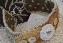 Fabric Cuff Bracelets / by Karen Bumstead