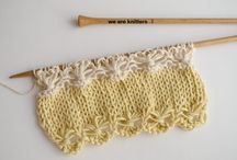 Knit stitch patterns etc.