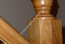 Turned Oak Acorn Newel Cap for Staircase by Browns