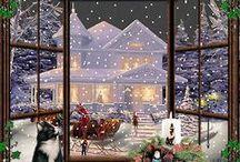 χριστουγεννιατικο τοπιο