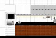 COZINHAS / Projetos de cozinhas pequenas.
