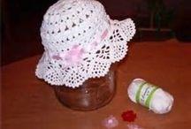 Summer crochet hats