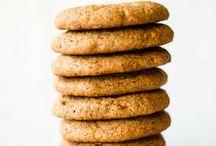 Cookies, biscuits, pancakes, doughnuts