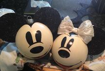 Vintage Mickey Mouse ornaments