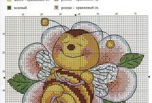 Haft krzyżykowy - Robaczki, owady