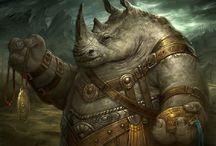 RPG Inspiration Rhino folk