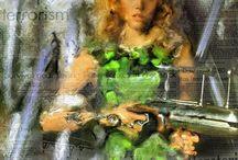 Jane Fonda Pop Art Canvas