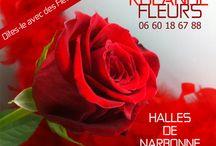 rolande fleuriste aux halles de Narbonne / Rolande votre fleuriste aux halles de Narbonne sera heureuse de vous accueillir dans son étal de fleurs. Rolande vous propose de beaux bouquets de fleurs fraîches, des compositions florales contemporaines et champêtres. Offrir des fleurs c'est un symbole délicat et sensible, un bouquet de fleurs est un cadeau rêvé pour transmettre gracieusement votre infinie tendresse. Ouverture de l'étal de 8h00 à 14h00.aux Halles de Narbonne à deux pas de la mairie et du canal de la Robine.
