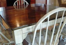 """Table Redo / So I really want to give our 2nd hand, very """"loved"""" kitchen table a new look to compliment our new wood floors."""