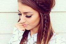 Cool hairstyles and make-up