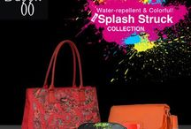 Water-repellent and Colorful! New Splash Struck Collection / Baggit has launched a vibrant New Splash Struck collection for the rains that you will absolutely fall in love with. Designed beautifully and inspired by dazzling neon shades made from cruelty-free high quality water-repellent materials with attractive prints. Embrace a new season with striking bursts of trendy color combinations and stay stylishly on trend. Must-haves for the monsoon, everything from the new collection is available at our Exclusive stores and at www.baggit.com