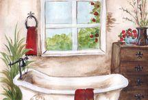 grafiki mieszkanie dom pomieszczenia łazienka