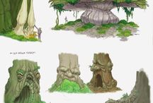 Escenarios / Escenarios, bocetos de ecenarios, ambientación...
