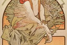 PLAKATY( np.Alfons Mucha)