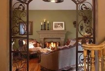 interior - fireplaces, arches