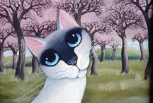 Cats in Art, Illustrations & Objects