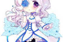 Chibi (^w^) / #manga #anime #anime girl #chibi