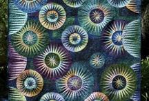 Quilts blue green