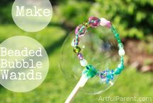 Bubble Wands / Bubble wands made mostly using wire and beads
