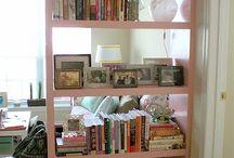 Pink lack bookshelf