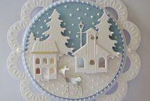 Witte kerstkaarten