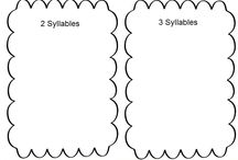 Language Arts: Syllables / This board contains pins about learning syllables.
