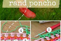 Breien en haken - Poncho/omslagdoek