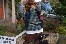 Bradworthy Scarecrow Competition - Holsworthy Devon England / While in Bradworthy we stumbled across a number of scarecrows so we started shooting them. / by Surrey Banners and Signs