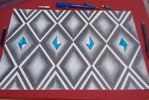 art rwandais / j'ai revisité l'art rwandais en ajoutant cristaux et de la couleur.