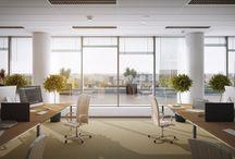 Wizualizacje wnętrz, biura / wizualizacje pomieszczeń biurowych, holów, klatek schodowych