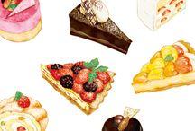 食べたくなるかわいい食品イラスト
