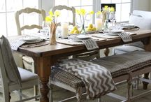 Home Decor:  Tablescapes / Tablescape ideas and inspiration for holidays or any day.