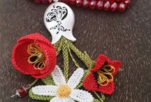 Crochet collares flores