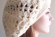 crochet scarf and beret set