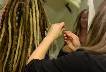Students of the professional dreadlock maker education.