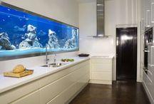 Fish tanks walls