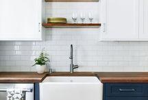 Dark blue kitchens