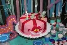 Первый годик Алисы / Торт cake bday birthday candy bar праздник день рождения