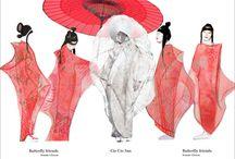 Renderings / Costume designers I admire