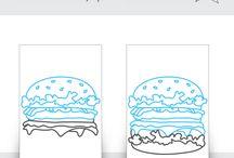 Dibujo hamburguesa