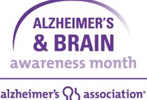 Alzheimer's and Brain Awareness Month / June is Alzheimer's & Brain Awareness Month.  Join the Alzheimer's Association and GO PURPLE to raise awareness of the 44 million people living with dementia worldwide.