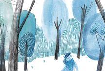 // inspiration : children's book illustration style
