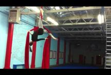 Silks routine - cool way to get from double foot lock.